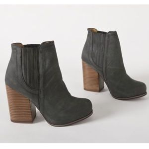 Jeffrey Campbell black knock out leather booties